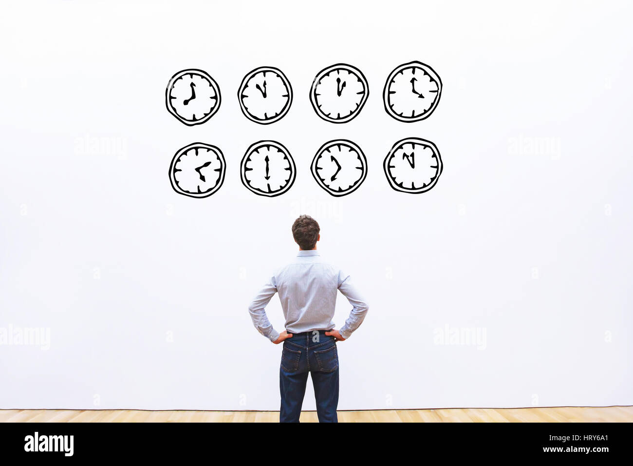 Concept de gestion du temps Photo Stock