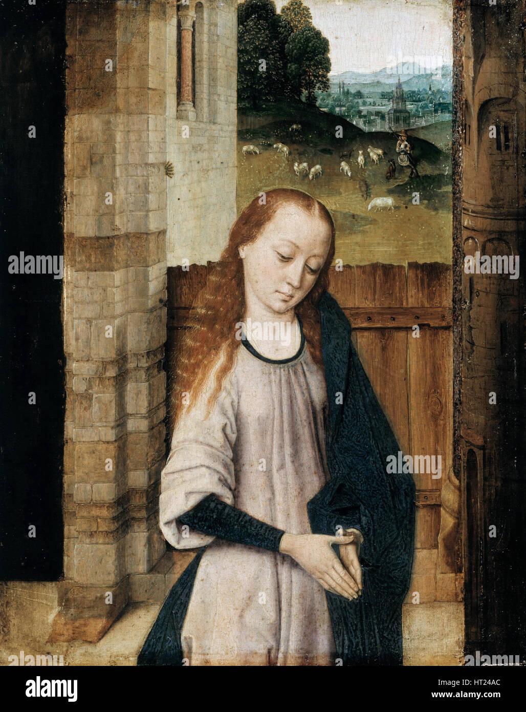 Vierge en adoration, 15e siècle. Artiste: Combats, Dirk (1410/20-1475) Photo Stock