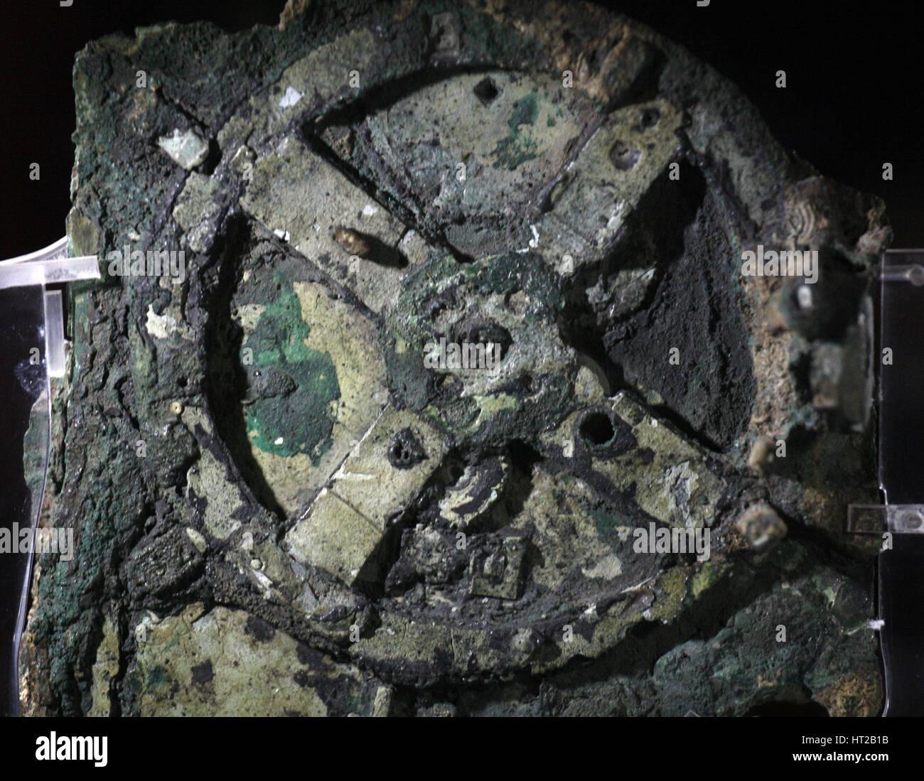 Le mécanisme d'Anticythère, 205 BC. Artiste: objet Historique Photo Stock