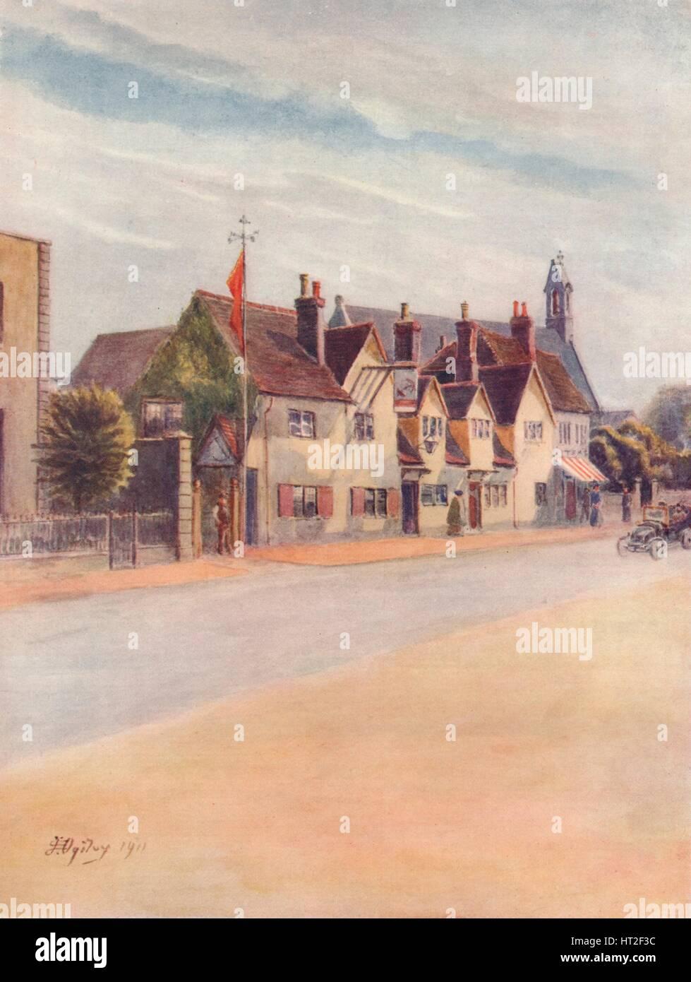 'Ripley, The Anchor Inn', 1911, (1914). Artiste: James S Ogilvy. Photo Stock