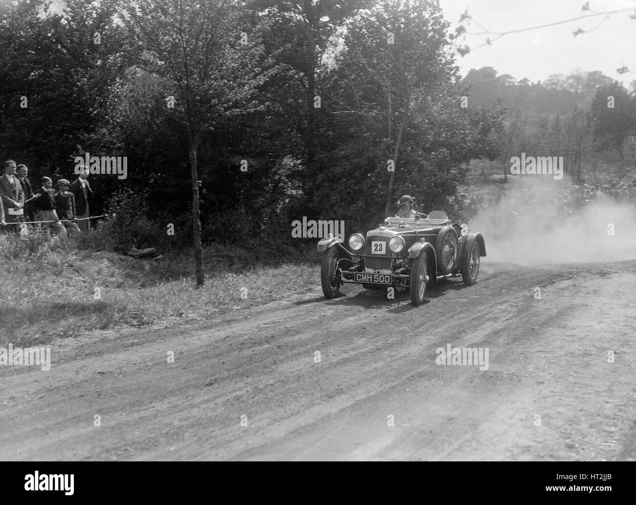 Frazer-Nash TT, Bugatti Owners Club Hill Climb, Chalfont St Peter, dans le Buckinghamshire, 1935. Artiste: Bill Brunell. Banque D'Images