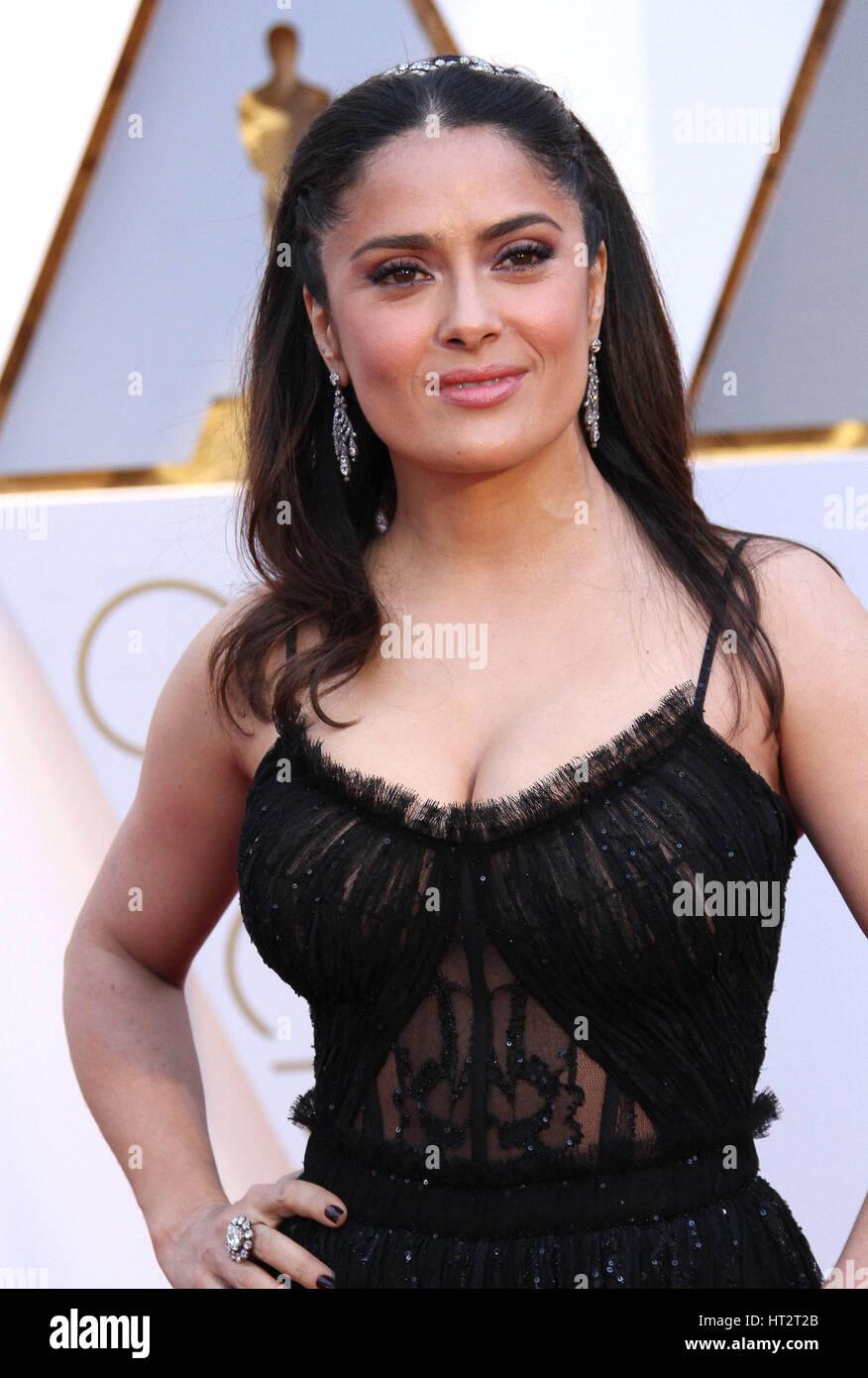 Hollywood, CA, USA. Feb 26, 2017. 26 février 2017 - Hollywood, Californie - Salma Hayek. 89e Academy Awards Photo Stock