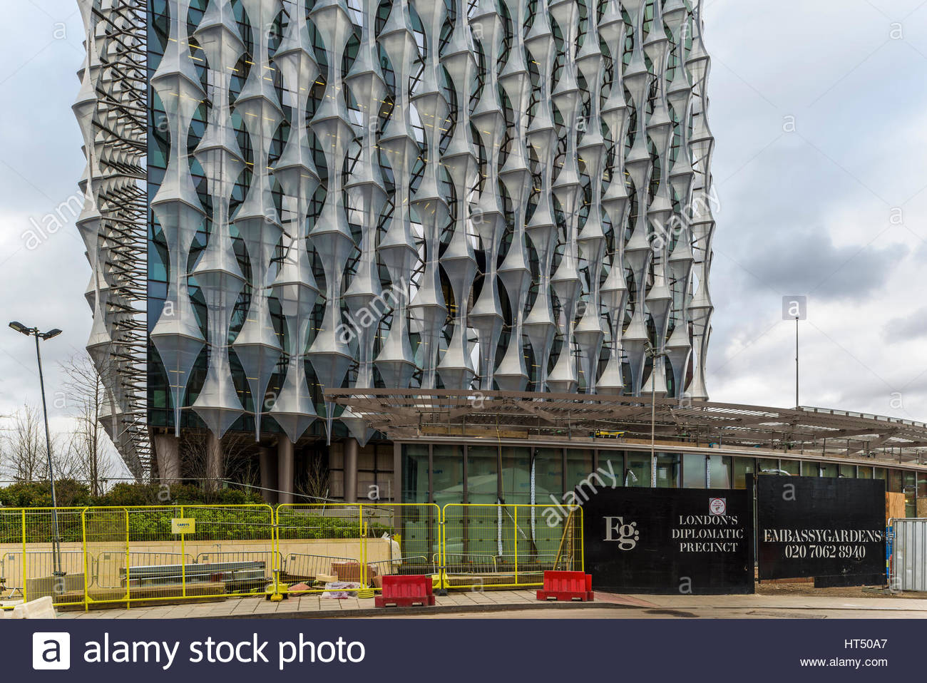US Embassy, Nine Elms, Londres Photo Stock