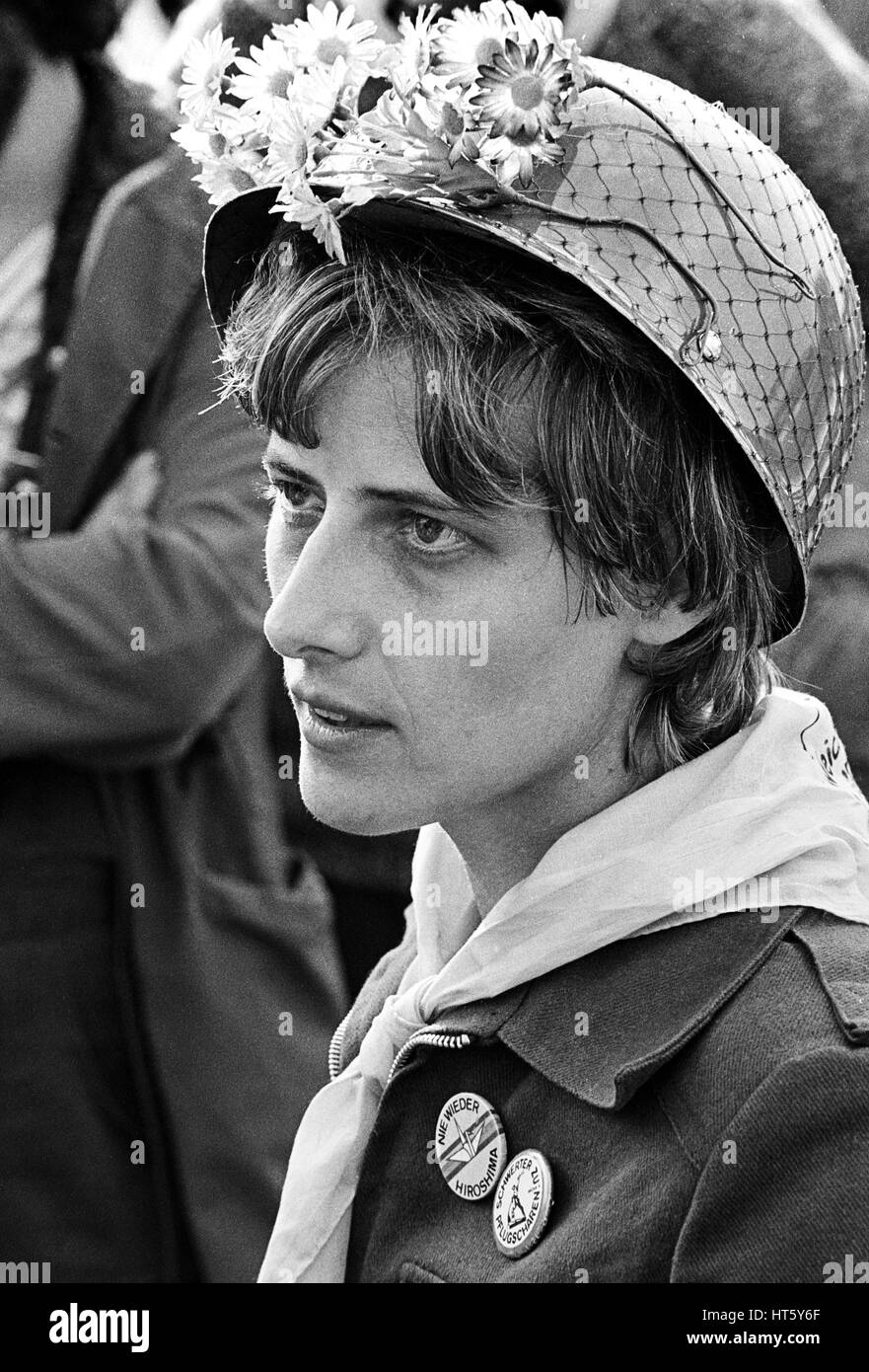 Mutlangen, Allemagne, 01.Sept.1983: PETRA KELLY (* 29 novembre 1947, † probablement le 1er octobre 1992), Photo Stock