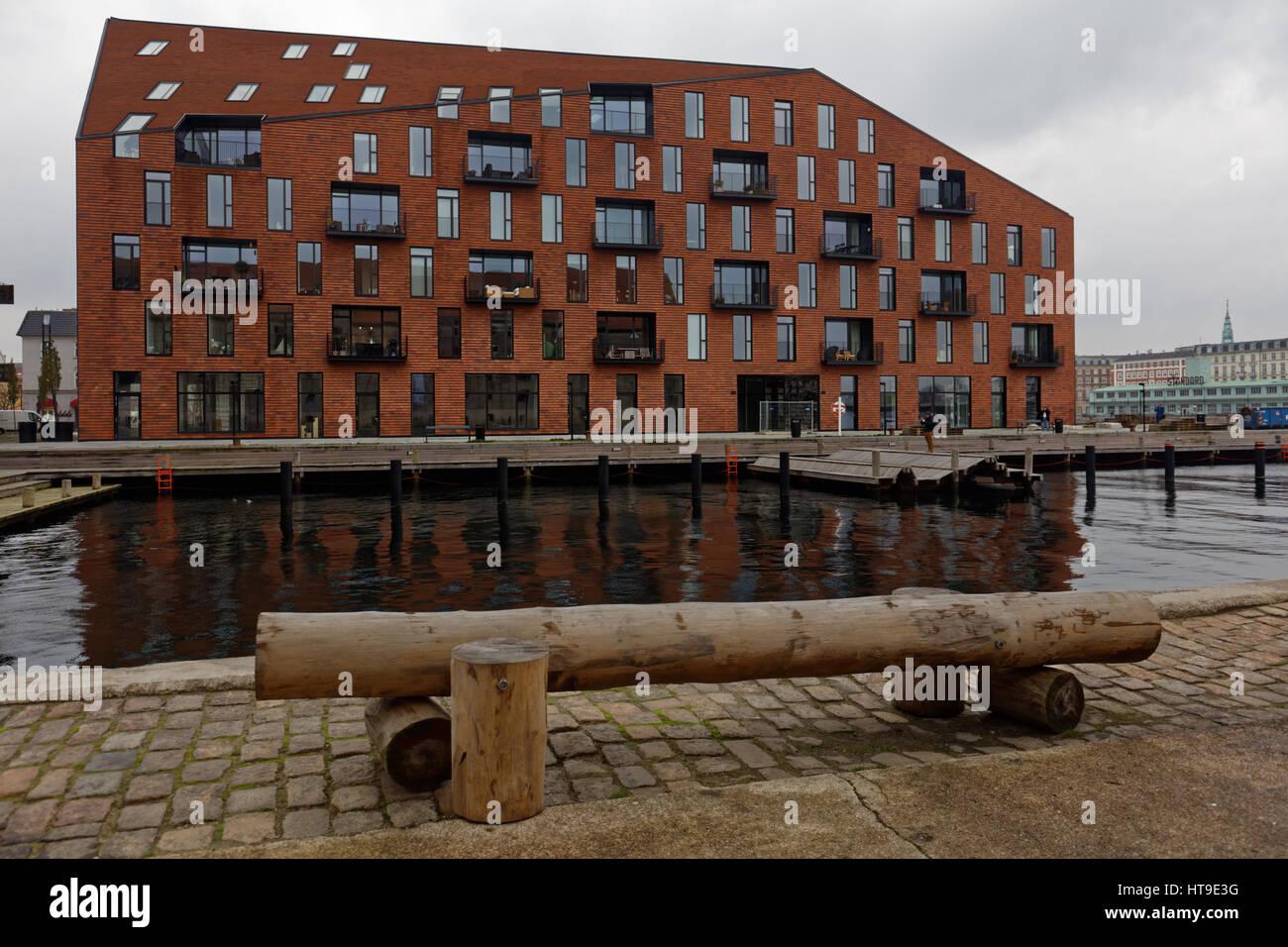 K, les nouveaux bâtiments d'habitation dans le centre de Copenhague, Danemark Banque D'Images