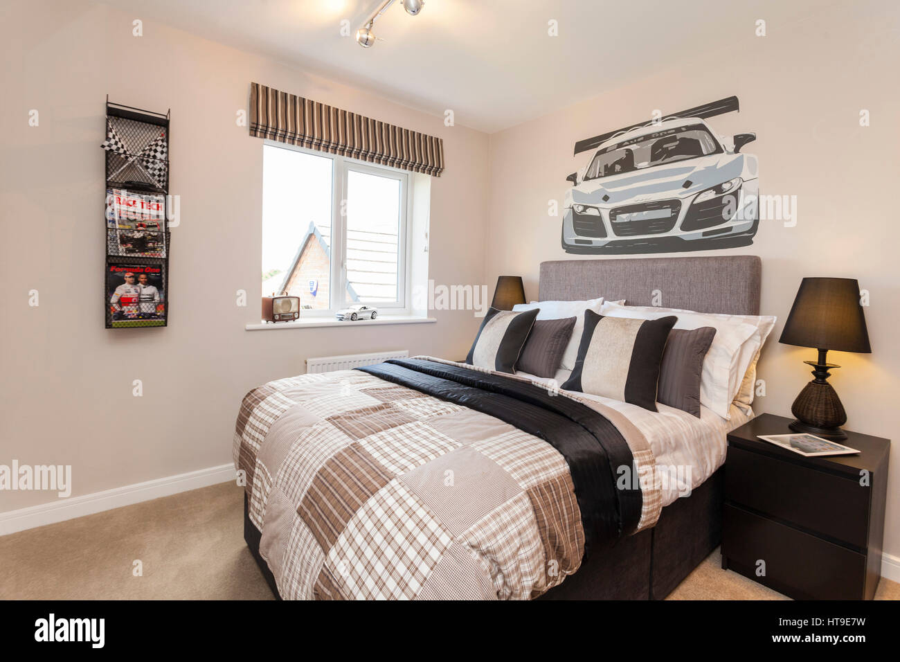 Home intérieur, chambre à coucher, les garçons thème voiture de ...