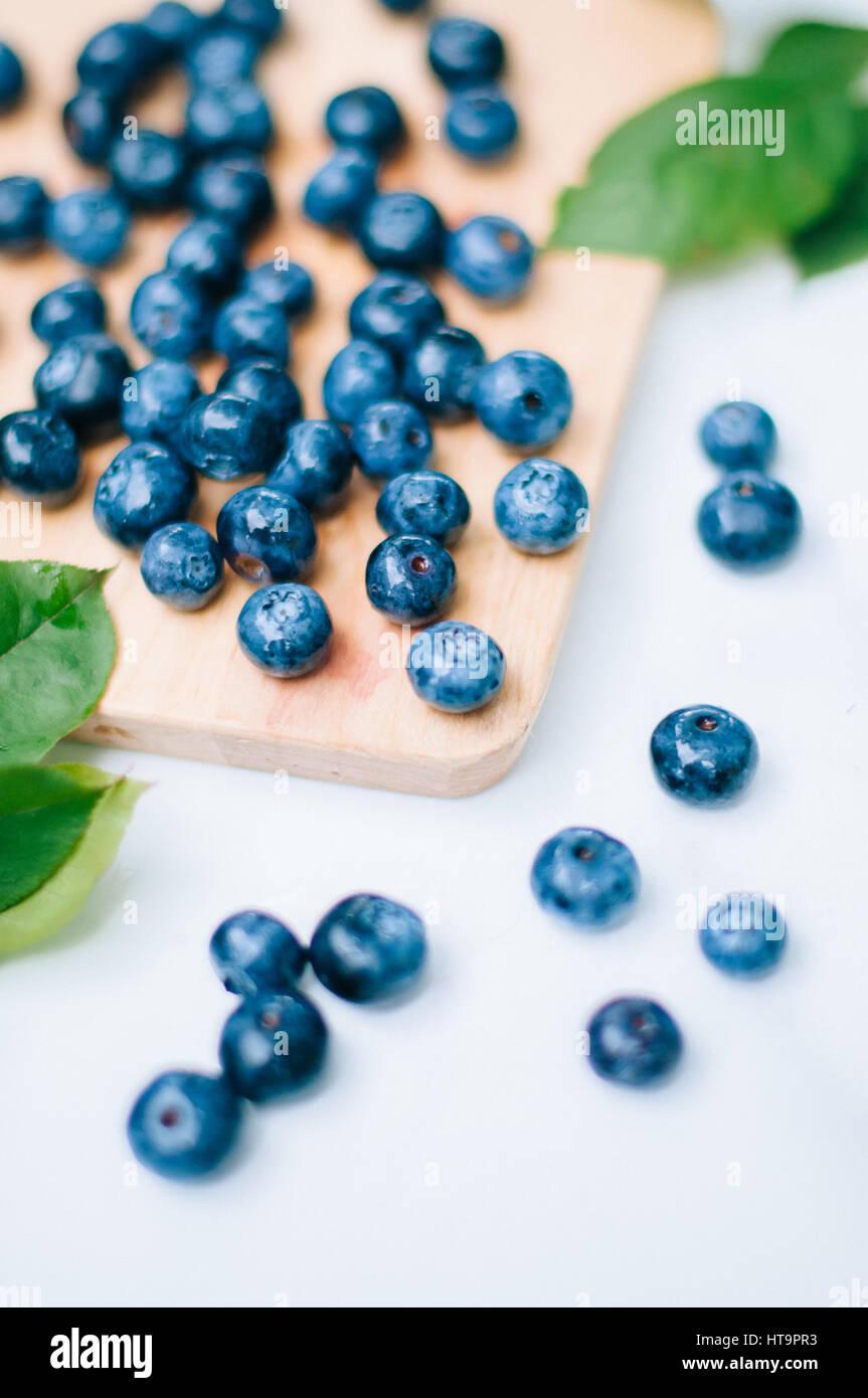 L'été Les bleuets frais Photo Stock
