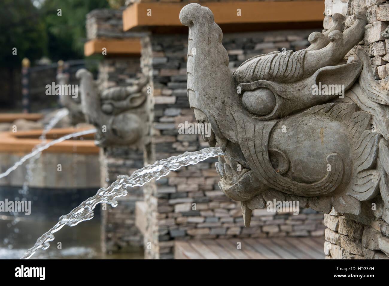 Le Bhoutan, Thimphu, capitale du Bhoutan. Hôtel de luxe cinq étoiles, l'hôtel Taj Tashi. Créature Photo Stock