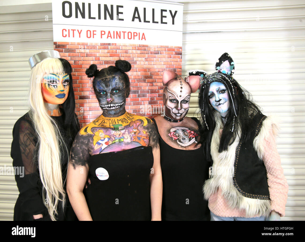 Rugby, Royaume-Uni. 11 mars 2017. Les médias et la photographie maquillage show 2017 s'est tenue au Collège Photo Stock