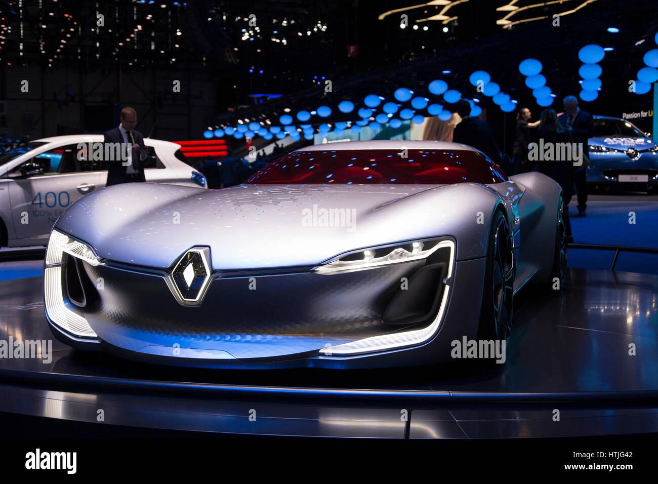 Trezor Concept électrique Renault à la 87ème Salon Automobile de Genève Internationale Banque D'Images
