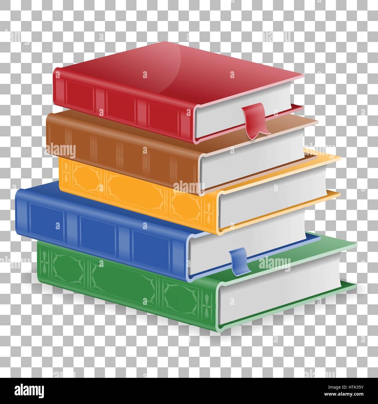 Concept De L Education Pile De Livres Colores Avec Des