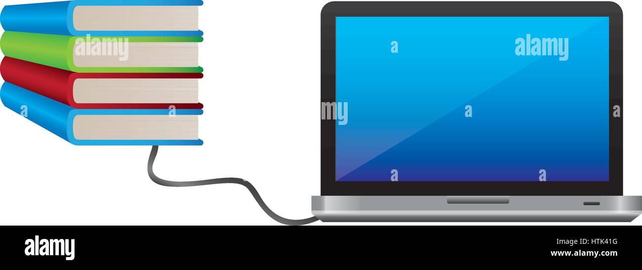 L'icône de l'étude des connaissances des computter Photo Stock