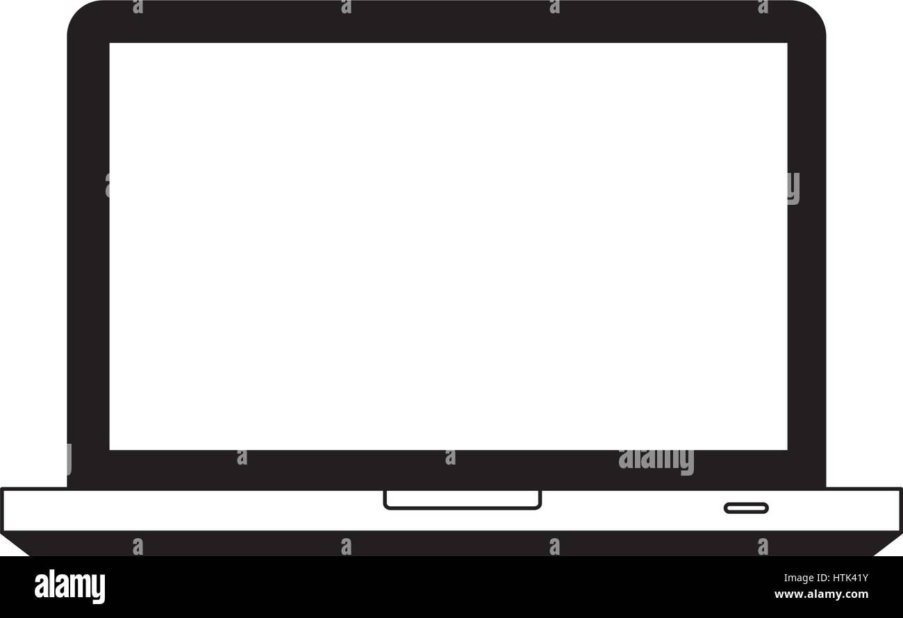 Computter icône soutien technologique Photo Stock