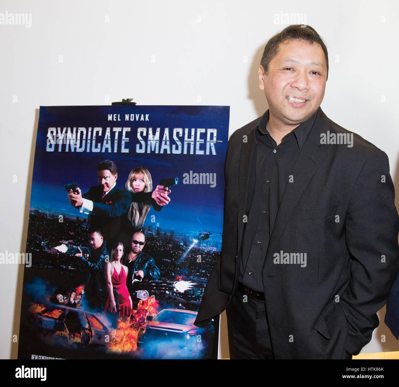 Los Angeles, Californie, USA. 11 mars, 2017 john. gumboc assiste à la première mondiale de 'syndicate Photo Stock