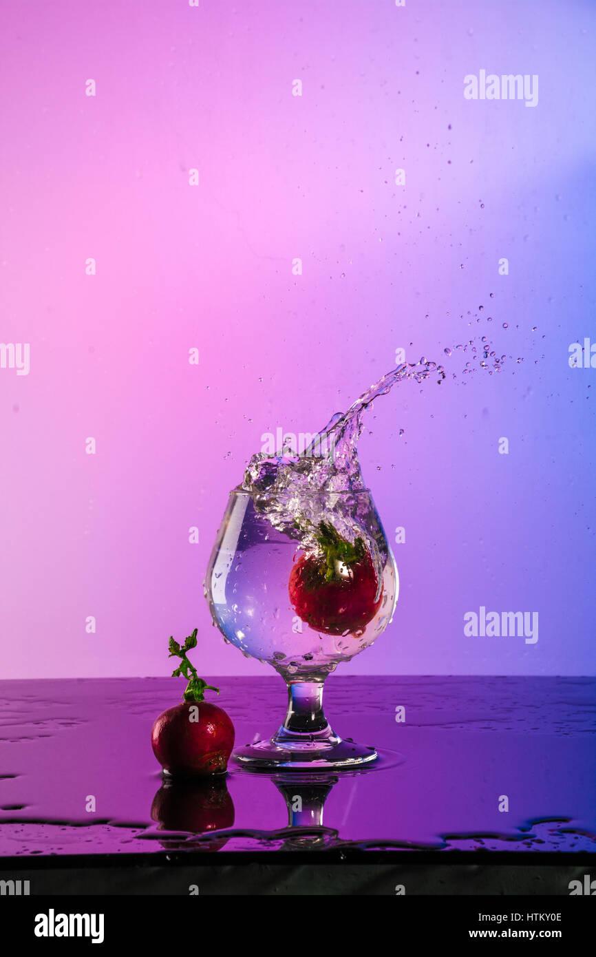 L'effet de l'eau Splash Photo Stock