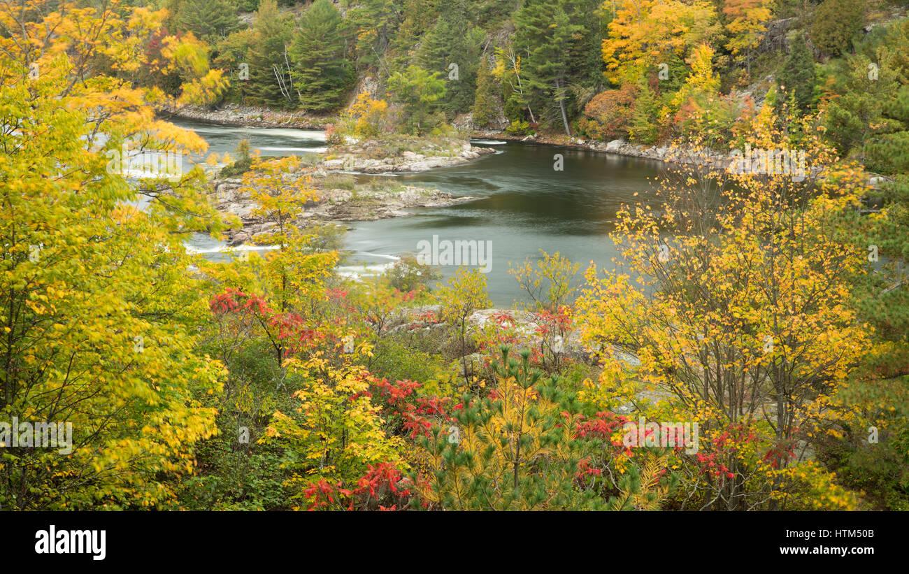 Rivière des Français nr Souvenir Falls, Ontario, Canada Banque D'Images