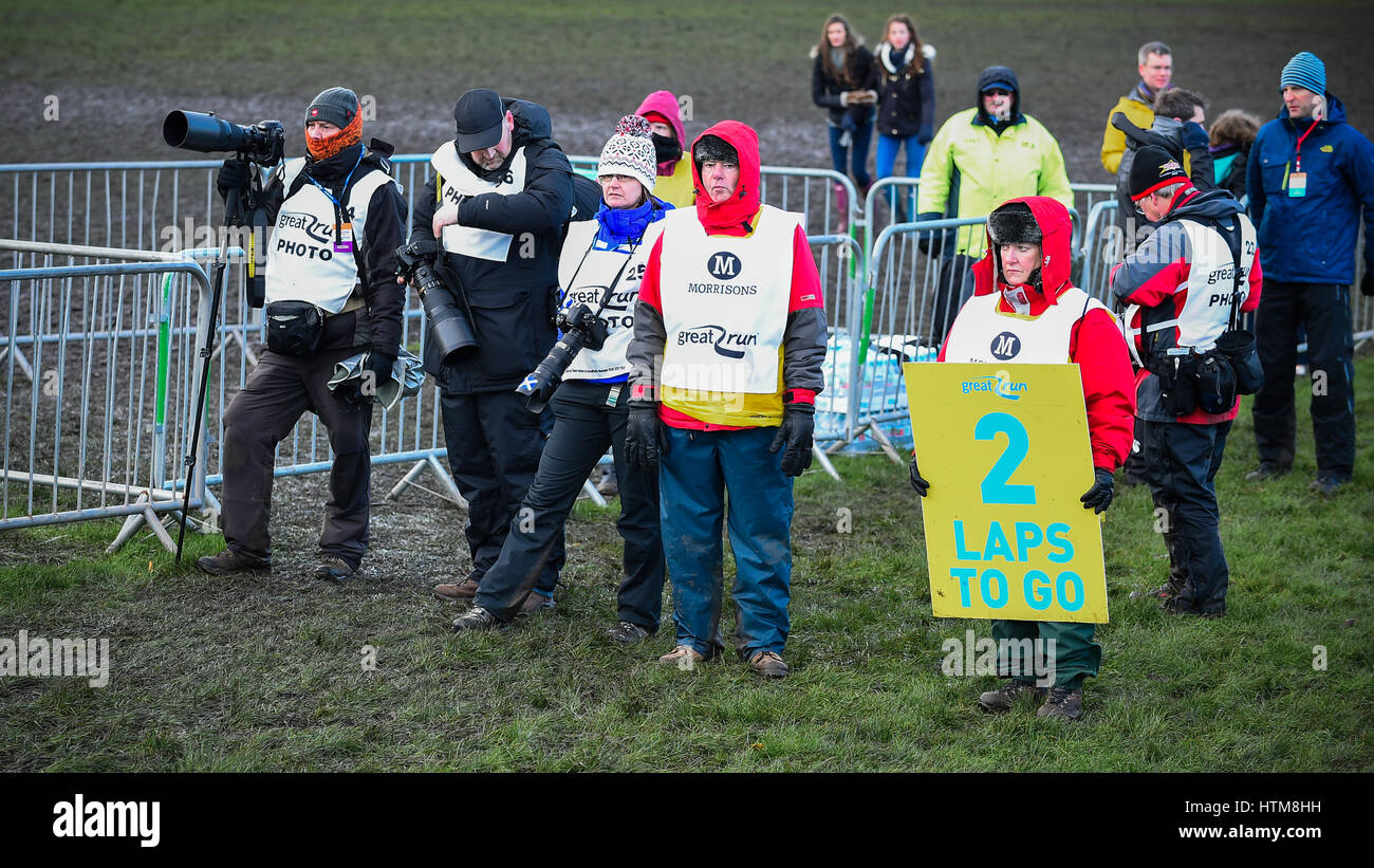 Edimbourg, Ecosse, Royaume Uni - 10 janvier 2015 - divers photographes de presse au grand cross country édimbourg Photo Stock