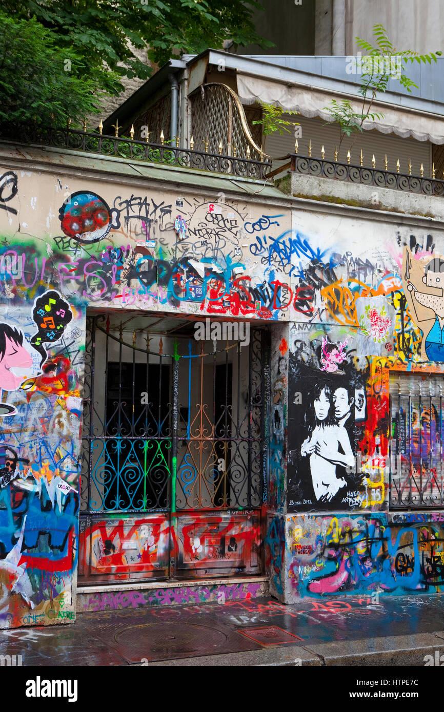 La maison de serge gainsbourg 5 bis rue de verneuil 75006 paris france la maison de serge gainsbourg