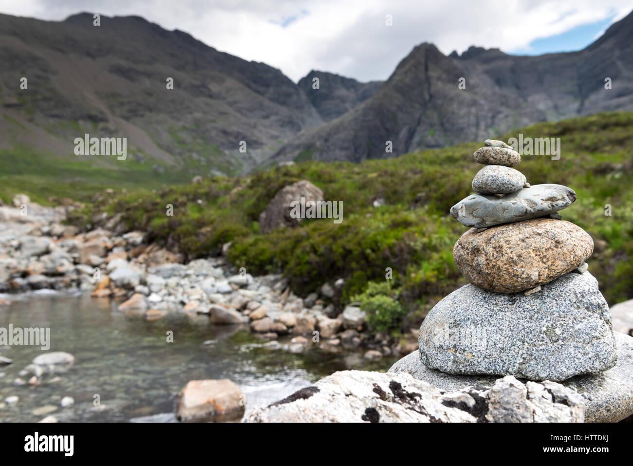 Concept de l'équilibre, d'inspiration zen, et de bien-être composition tranquille Banque D'Images