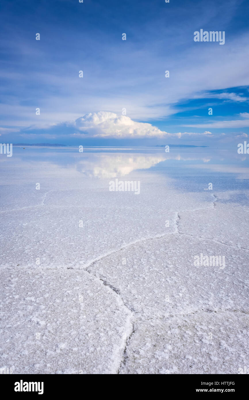 Salar de Uyuni Salt Flats, désert blanc Altiplano Andes, Bolivie Photo Stock