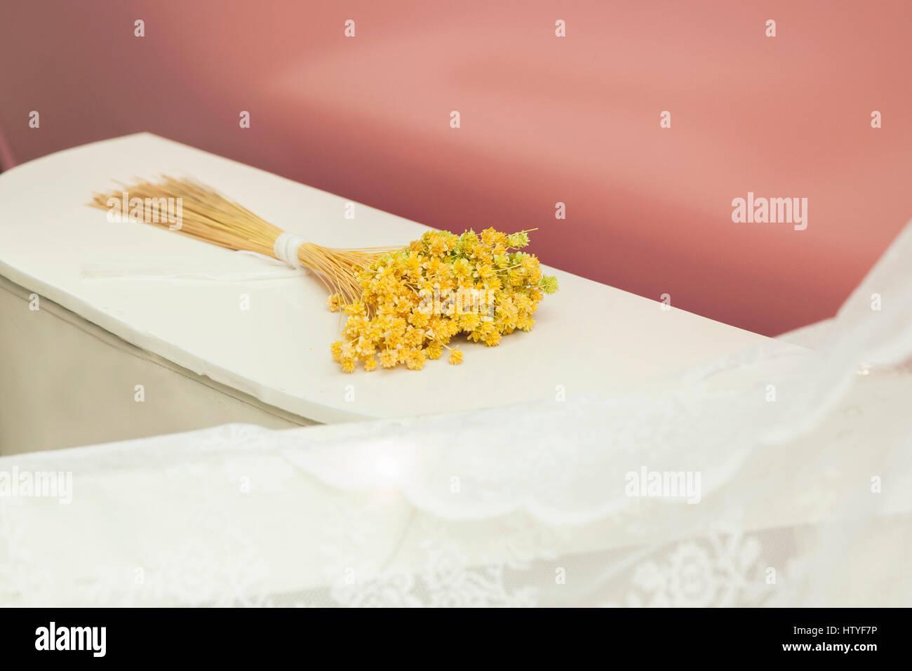 Bouquet de fleurs jaune Banque D'Images