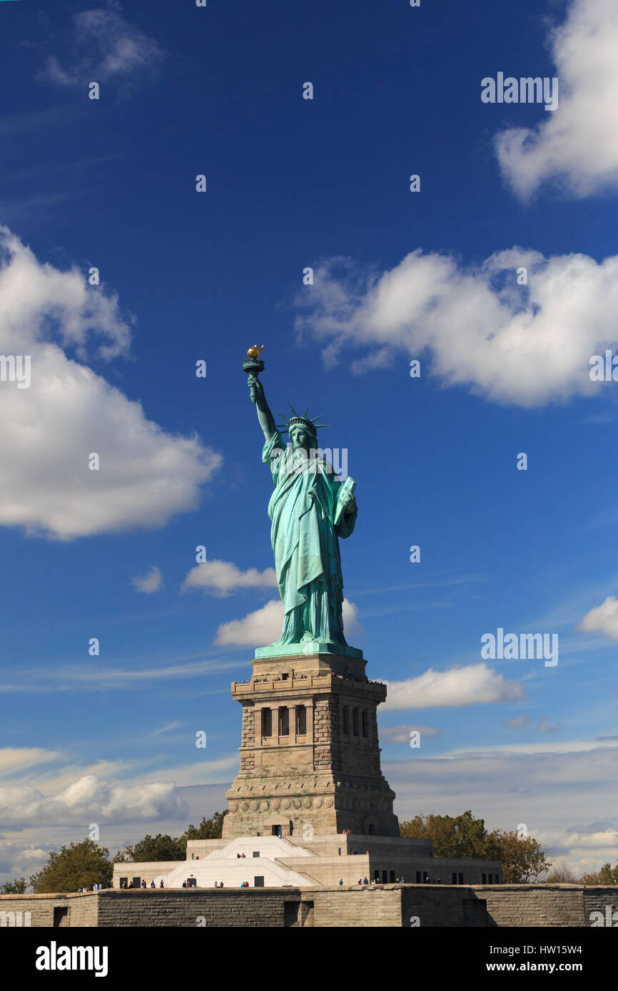 USA, New York, New York, Statue de la liberté National Monument Photo Stock