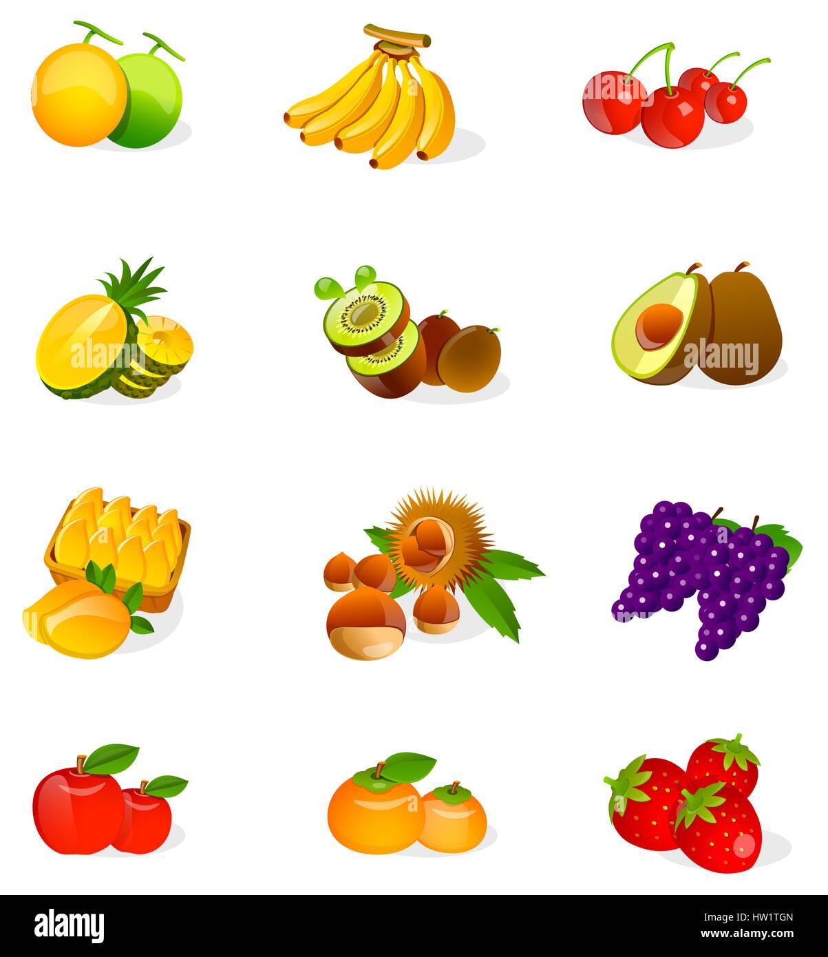 L Avocat Banane Pomme De De Clip Art Clipart Couleur Couleur Couleur Image Infographie Informatique Image Icone Genere Numeriquement Nourriture Nourriture Et Boissons Fruits Nutrition Raisin Biologique Nutritifs Graphiques Goyave Saine Alimentation
