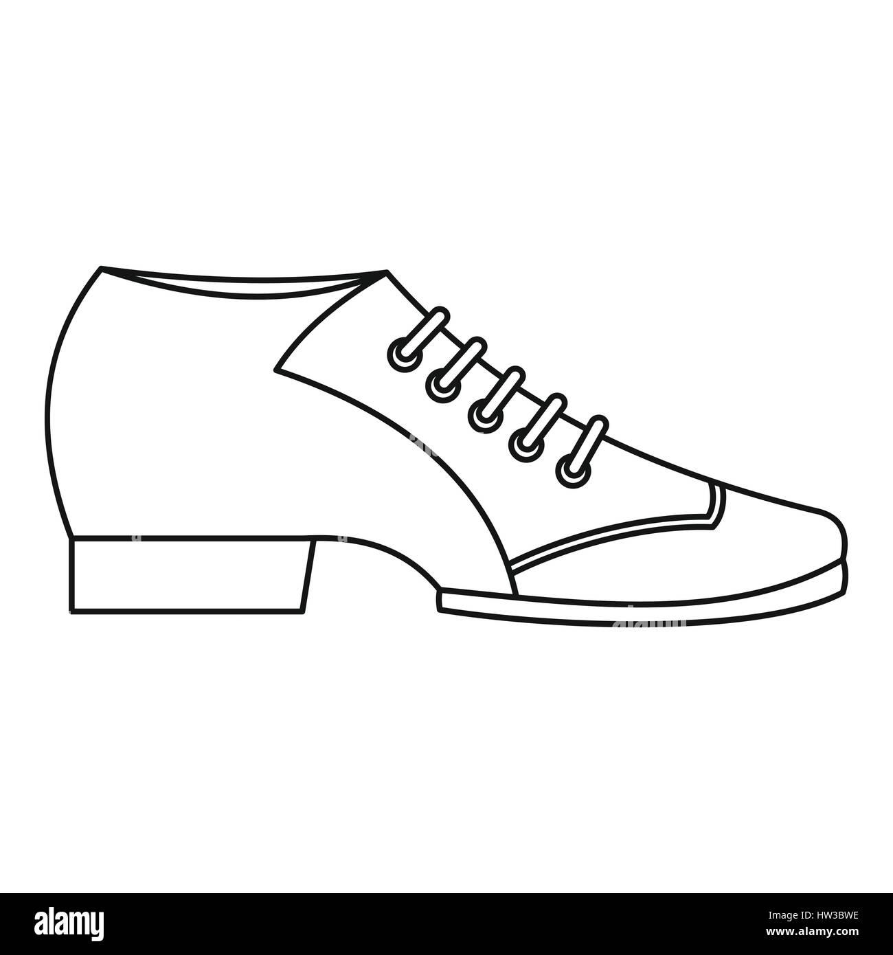 Et Tango Style ArgentinL'icône De Vecteurs Chaussures Contour YgvIb6yf7