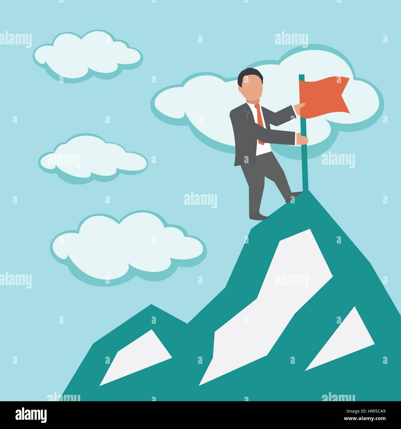 Le leadership. Business concept illustration Photo Stock