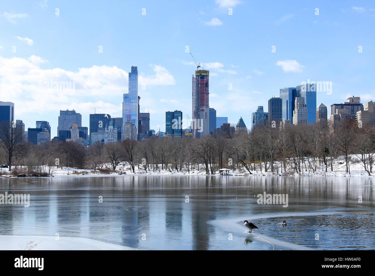L'hiver à Central Park, New York, NY Banque D'Images