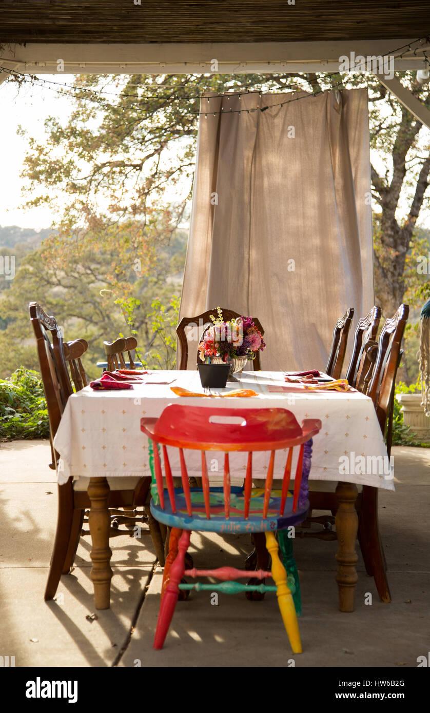 Table à dîner Photo Stock
