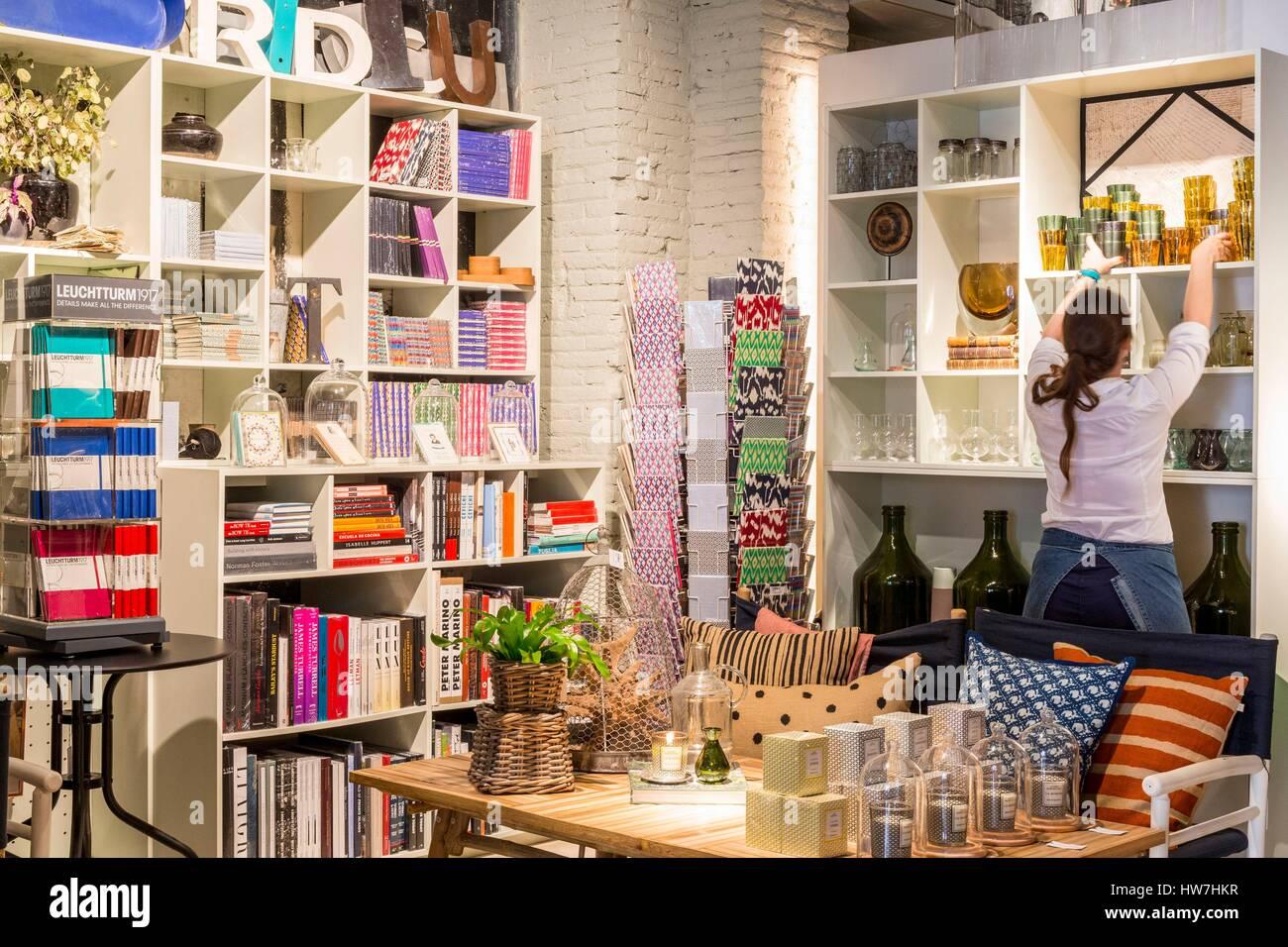 Espagne, Catalogne, Barcelone, Eixample, Jaime Beriestain concept store ouvert en 2010 Photo Stock