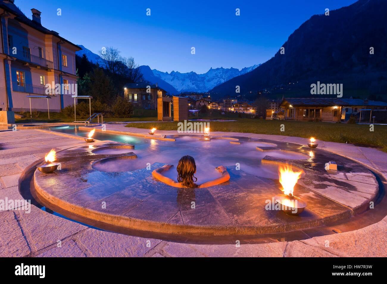 L Italie Valle D Aosta Courmayeur Les Thermes De Pr Saint Didier