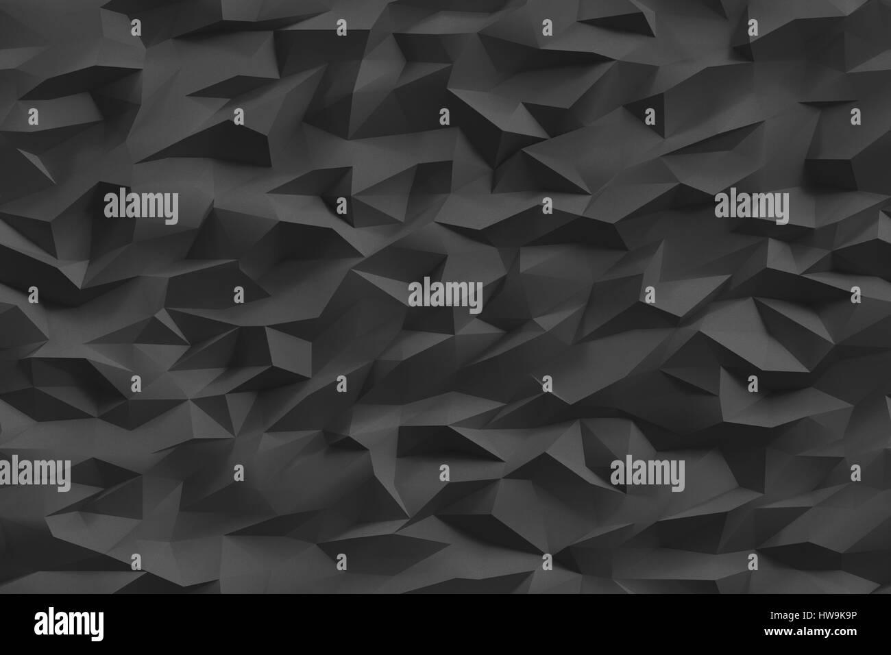 Poly Bas Fond Noir Neutre La Texture Numrique Polygonal Minimaliste Llment De Conception Graphique Pour Affiche Dcorative Carte Visite