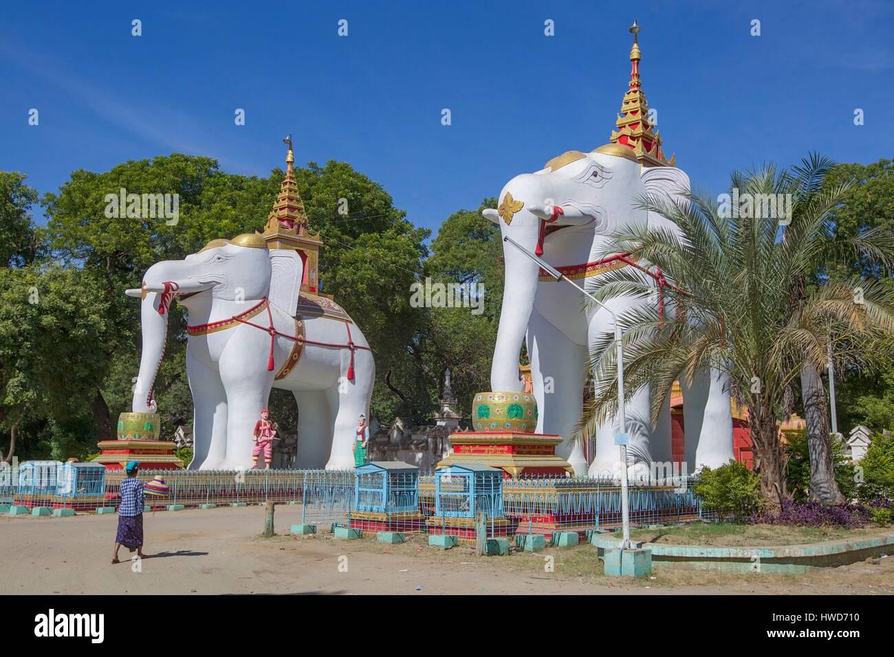 myanmar birmanie rh ne alpes r gion monywa pour entr e pagode thanbodday d cor de 2. Black Bedroom Furniture Sets. Home Design Ideas
