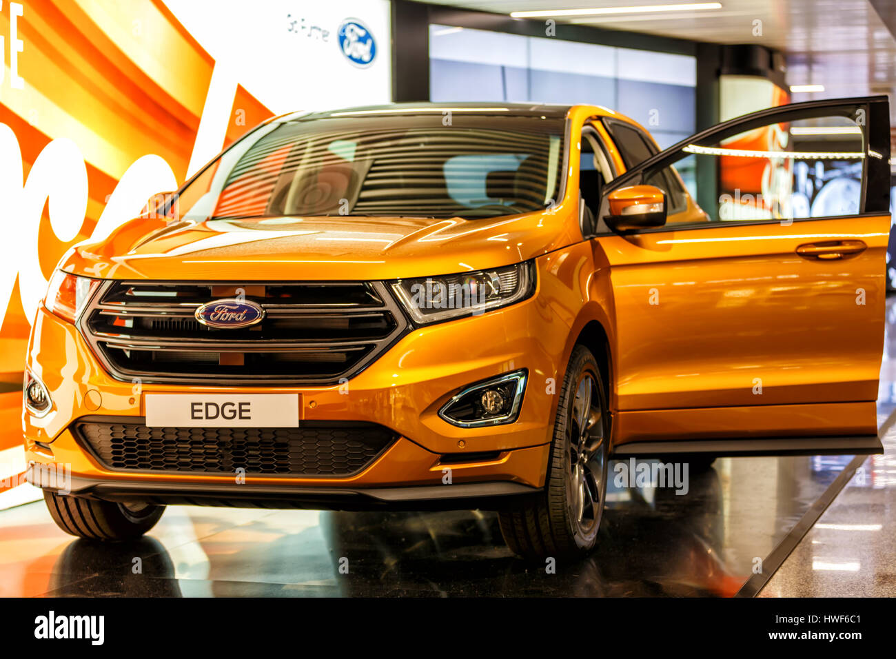ford suv edge photos ford suv edge images alamy. Black Bedroom Furniture Sets. Home Design Ideas