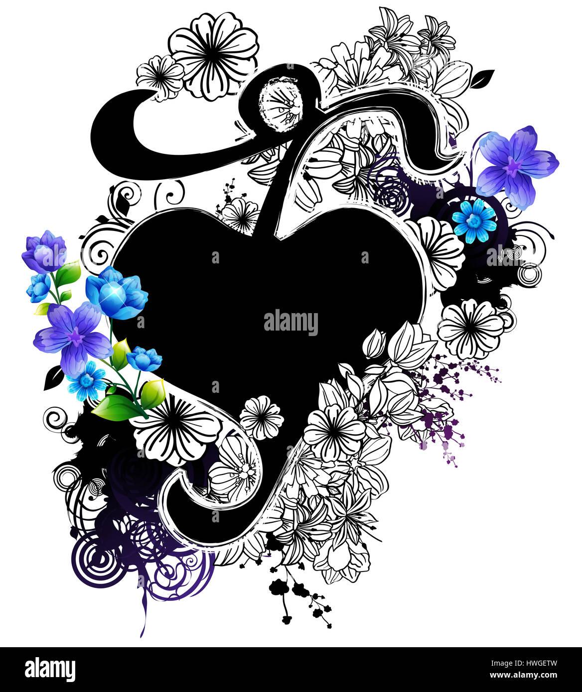 Forme De Coeur Coeur Amour Cote Signer Amour De Saint Valentin Curl