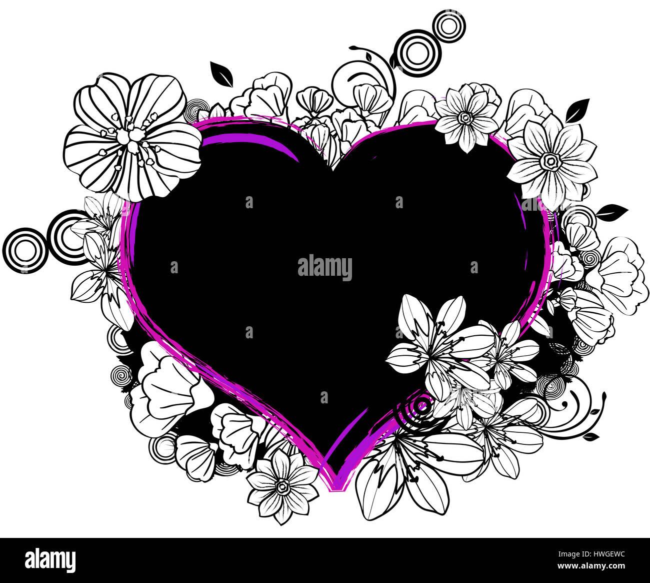 Forme De Coeur Coeur Amour Contour Symbole Signer Amour
