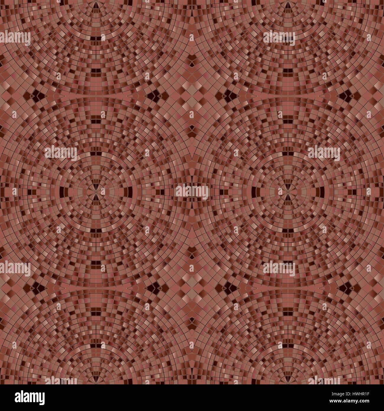 Carrelage Au Sol Marron Fonce Texture Mosaique De Pierres Vecteurs