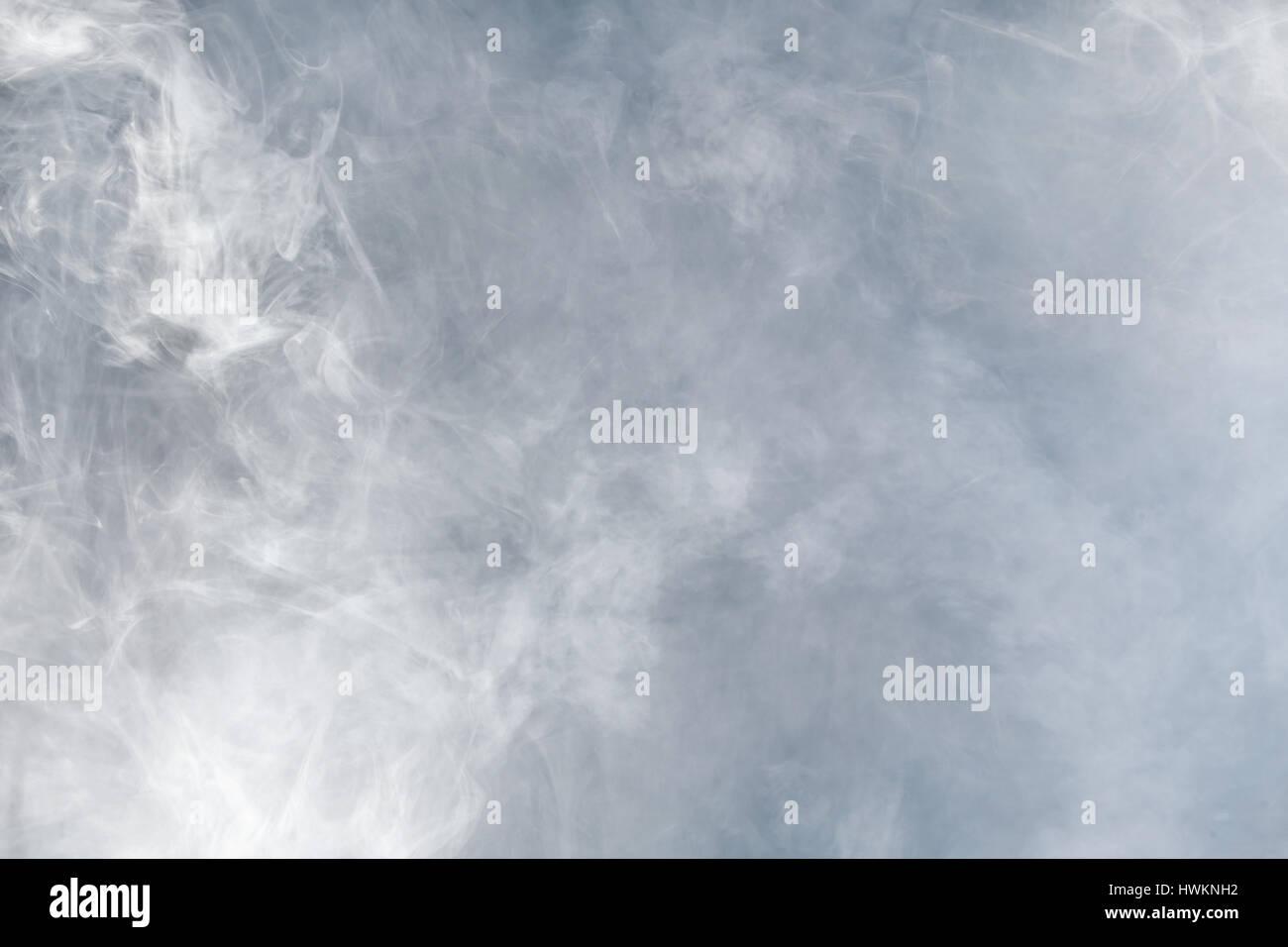 La fumée blanche. Et la texture d'arrière-plan Photo Stock