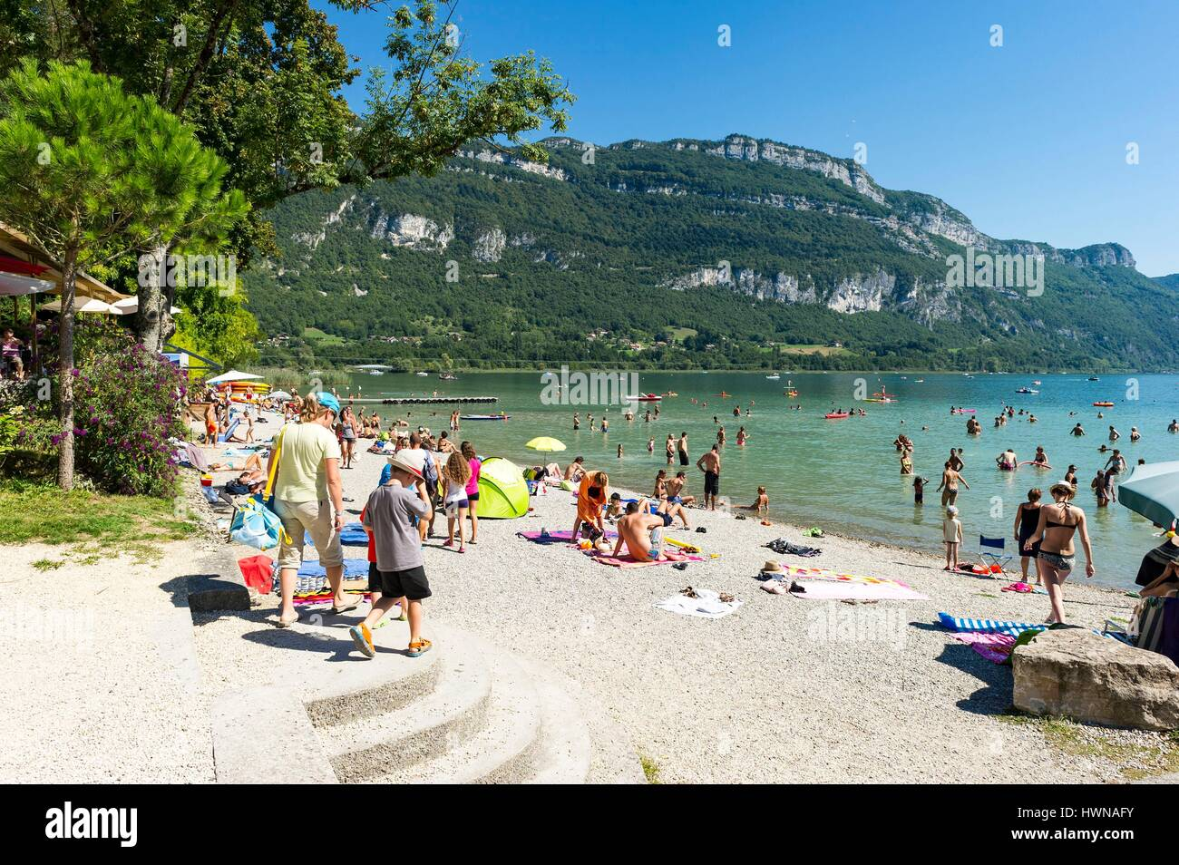 france savoie aix les bains la plage de ch tillon banque d 39 images photo stock 136308255 alamy. Black Bedroom Furniture Sets. Home Design Ideas
