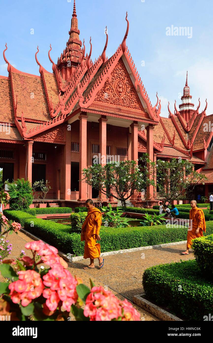 Cambodge, Phnom Penh, Musée national des beaux-arts Photo Stock