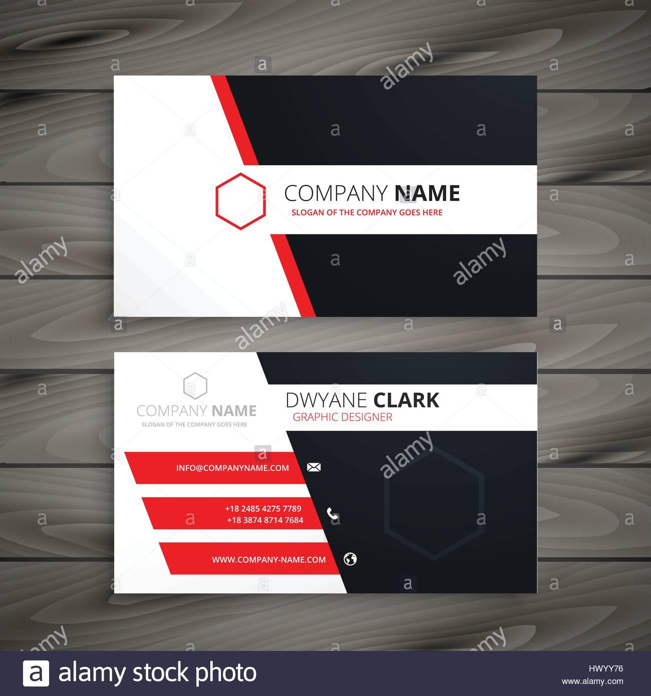 Modele De Carte De Visite Creative Design Vector Illustration