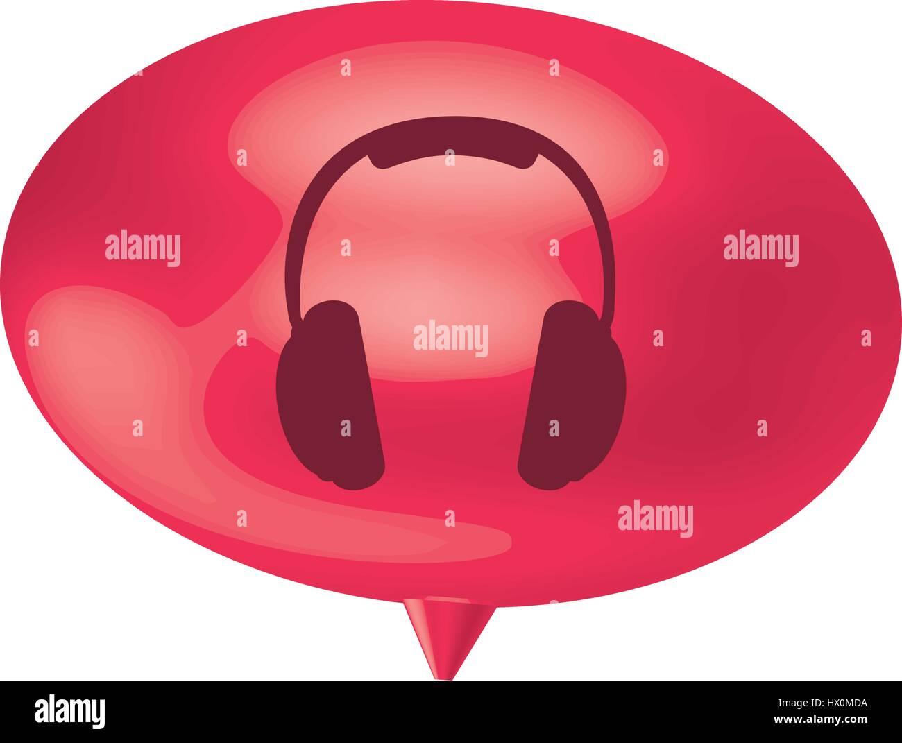 L'icône casque bulle fuchsia Photo Stock