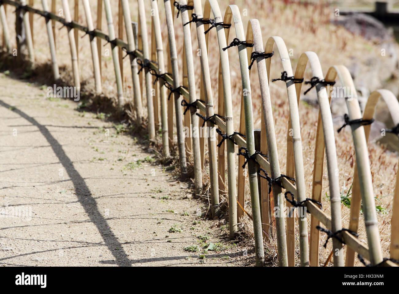 Clôture de bambou dans un jardin japonais Banque D\'Images, Photo ...