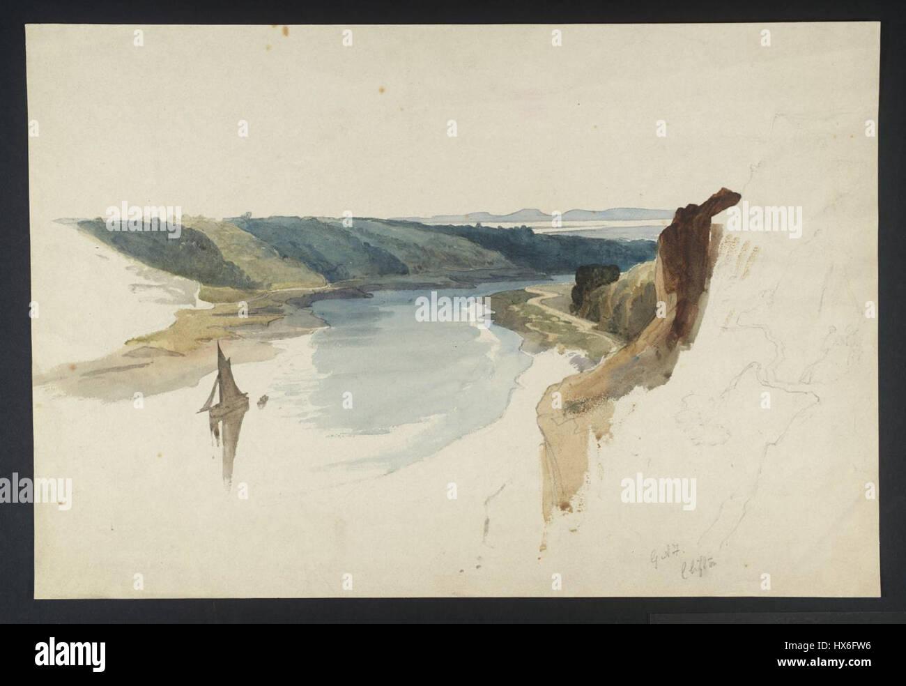 Avis de Clifton Gorge par George Arthur Fripp Photo Stock