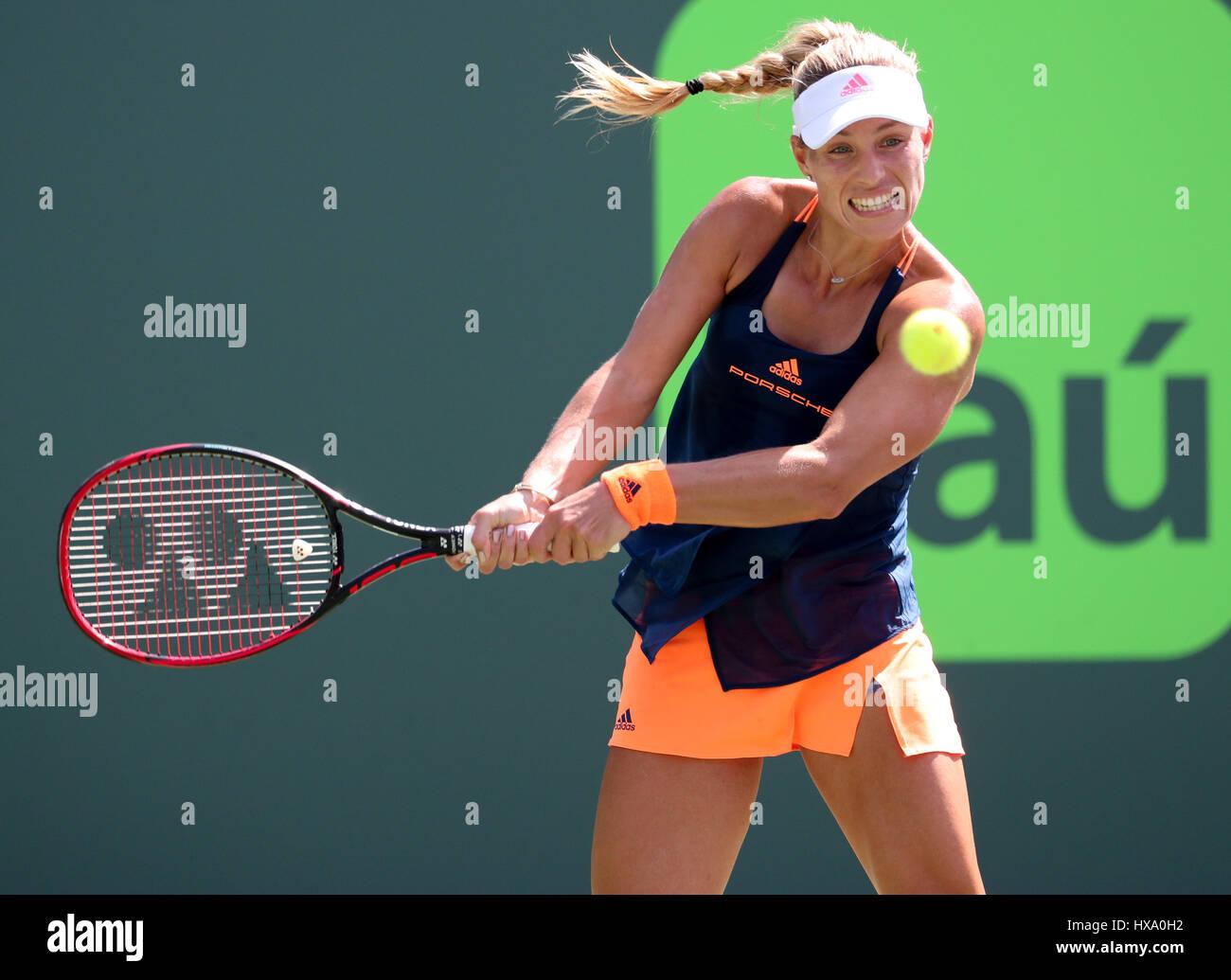 Key Biscayne, Floride, USA. Mar 26, 2017. Angelique Kerber, de l'Allemagne, en action pendant son match gagnant Banque D'Images