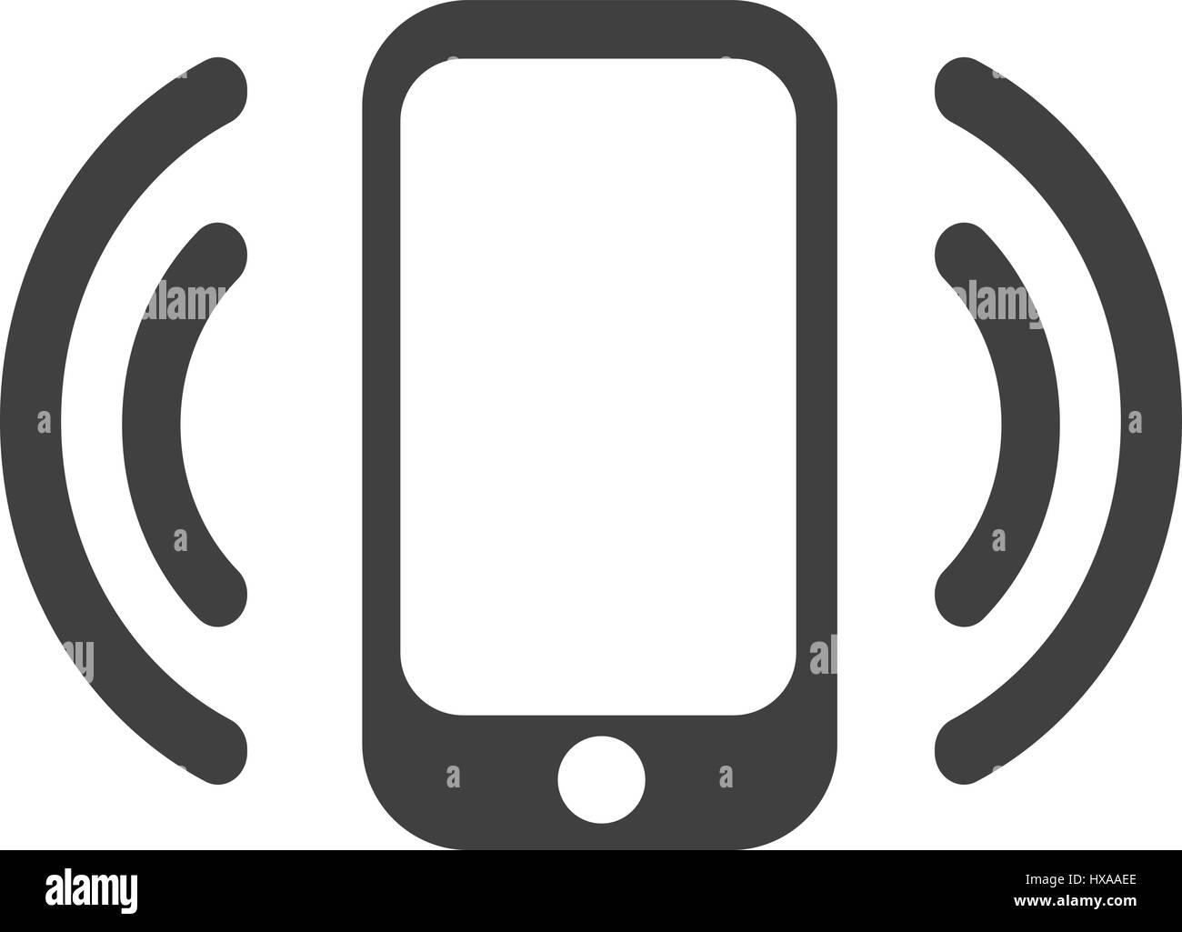 Smartphone avec icône wi-fi Photo Stock