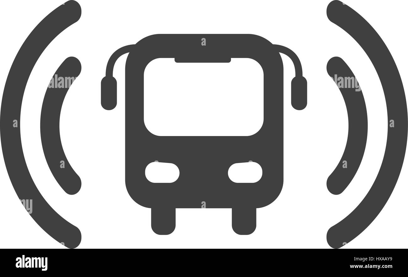 Wi-fi bus icône vecteur Photo Stock