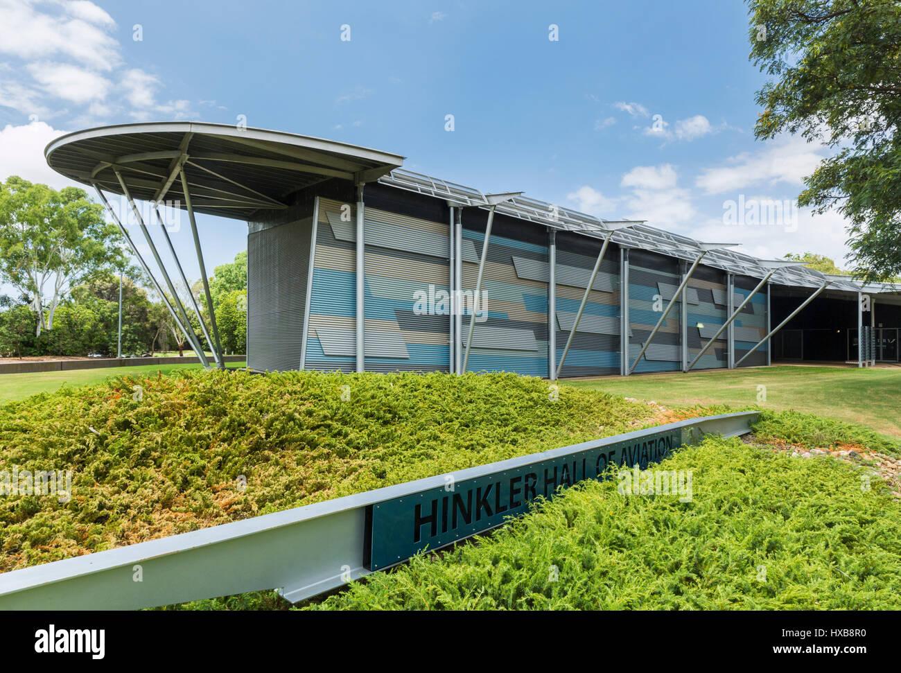 Le hall de l'Aviation Hinkler situé dans le Jardin botanique de Bundaberg. Bundaberg, Queensland, Australie Photo Stock